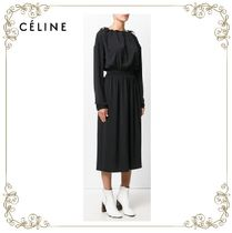 【17AW!新作!】★CELINE★gathered midi dress