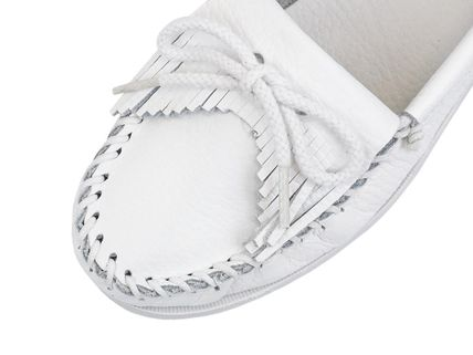 Minnetonka スリッポン MINNETONKA モカシン KILTY UNBEADED WHITE chjm204white(4)