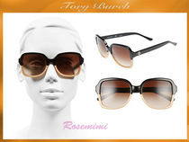 Tory Burch 55mm Polarized Sunglasses★サングラス★Black/Tan
