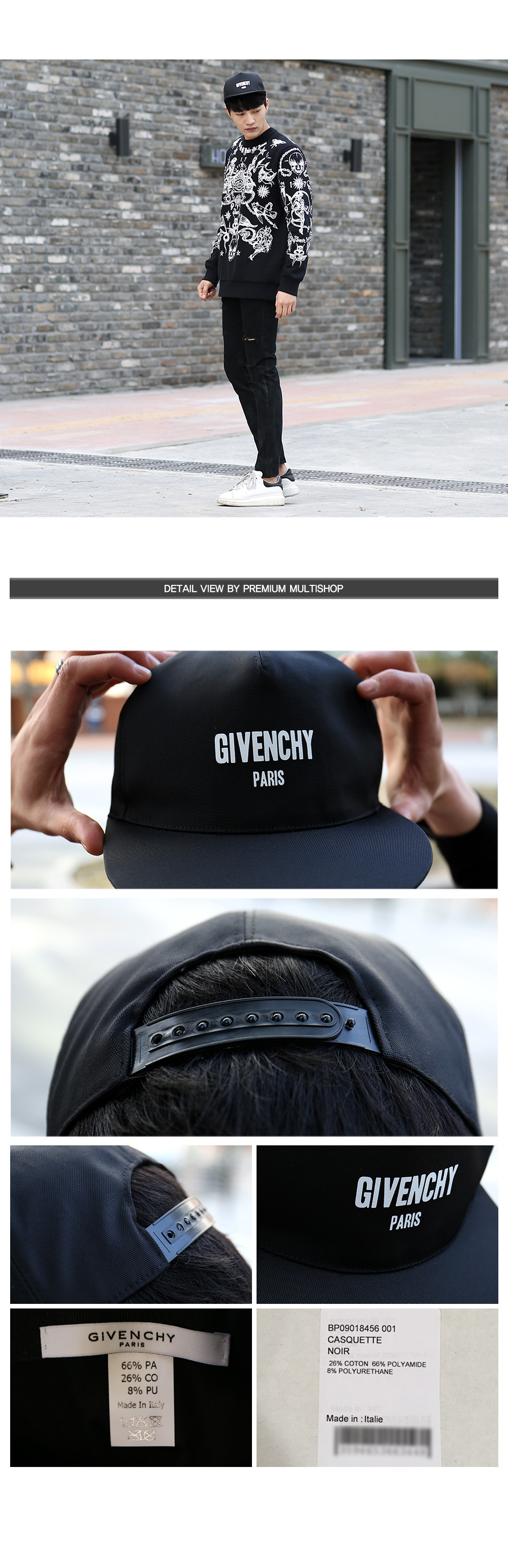 17AW 18AW ジバンシィ GIVENCHY LOGO CAP キャップ