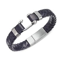 ★Steve Madden★Stainless Steel Leather Braided Bracelet