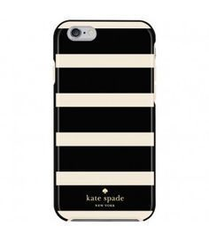 ☆Kate Spade iPhone 7, 6/6S対応ケース!ボーダー・BK x WH☆