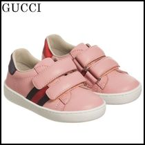 【関税/送料込】GUCCI Pink Velcro Leather Trainers 国内発送