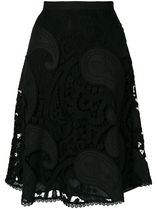 lace guipure A-line skirt