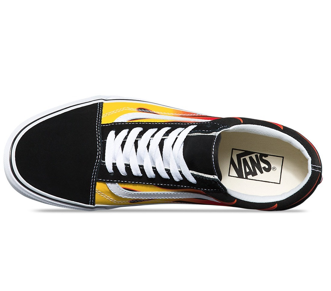 人気!VANS 【送料込】 Vans FLAME OLD SKOOL