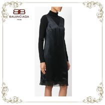 【17AW!新作!】★BALENCIAGA★wrap slip dress