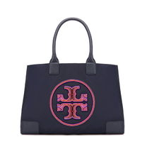 新作 TORY BURCH ELLA BEADED TOTE 34352【関税送料込】NAVY