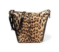 Mulberry Camden leopard print calf and leather shoulder bag