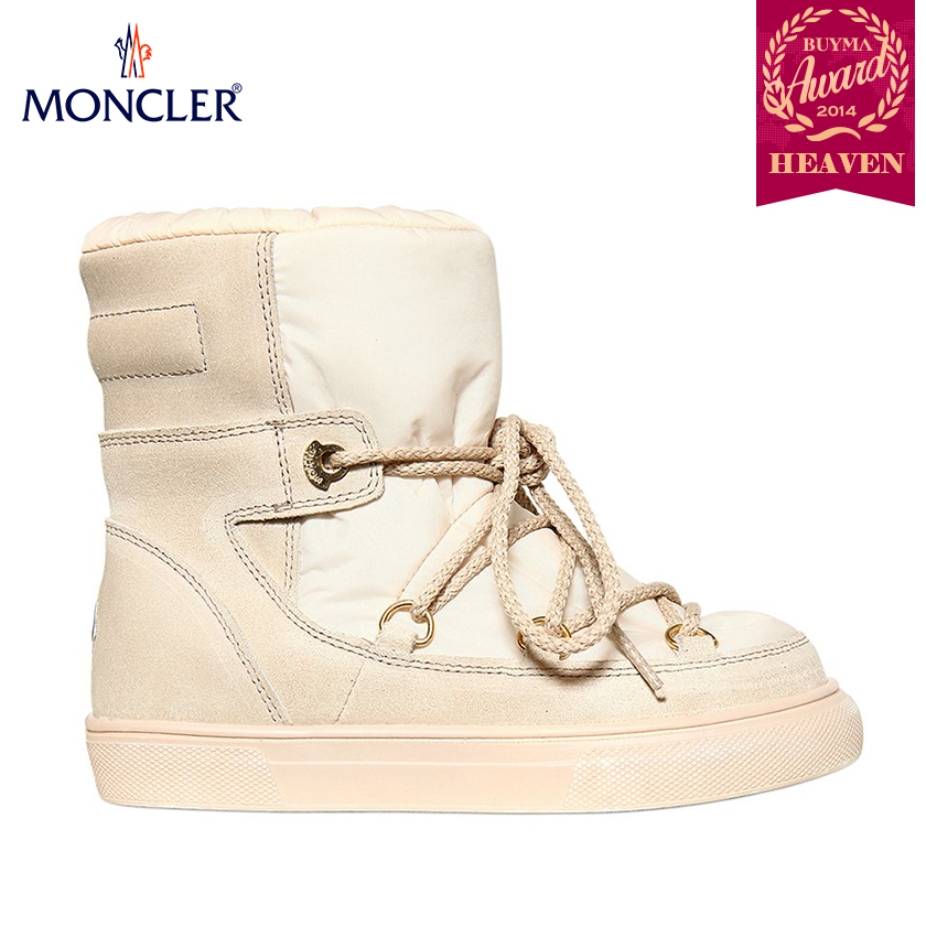 TOPセラー賞!17AW┃MONCLER★KIDS_SNOW BOOTS_パウダーピンク