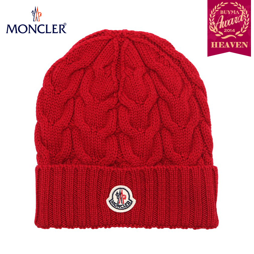TOPセラー賞受賞!17AW┃MONCLER★KIDS_KNIT HAT_レッド