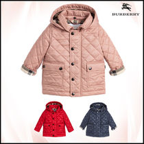 【関税/送料込】BURBERRY Girls Pink Quilted Jacket 国内発送