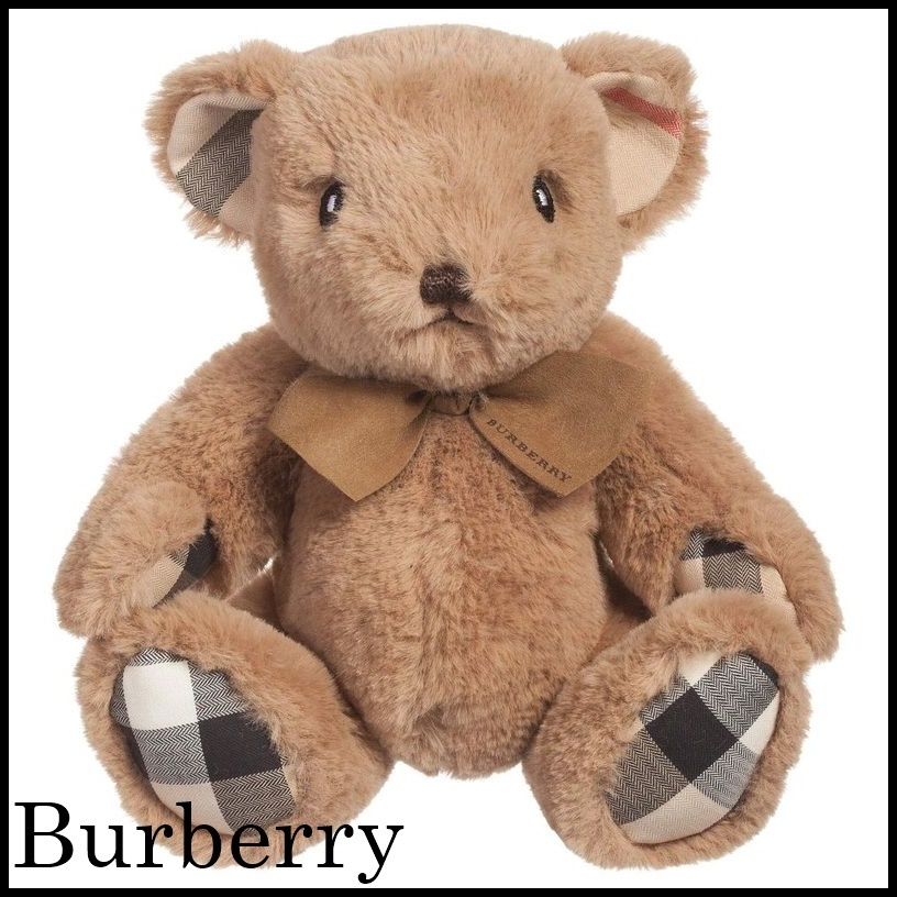 【関税/送料込】Burberry Beige Checked Teddy (25cm) 国内発送