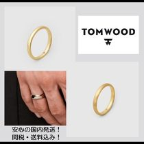 【関税&送料込】**Tom Wood**Classic Band Slim・リング/gold