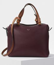 Small Soft Cube Bag in Burgundy Smooth Calfskin