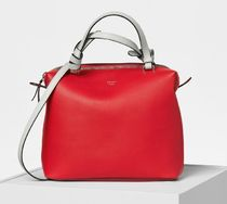 Small Soft Cube Bag in Bright Red Smooth Calfskin
