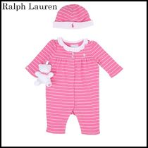 【関税/送料込】Ralph Lauren COTTON JERSEY ROMPER 国内発送