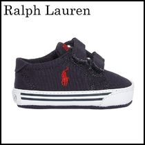 【関税/送料込】Ralph Lauren COTTON CANVAS SNEAKERS 国内発送