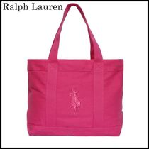 【関税/送料込】Ralph Lauren LOGO COTTON CANVAS BAG 国内発送