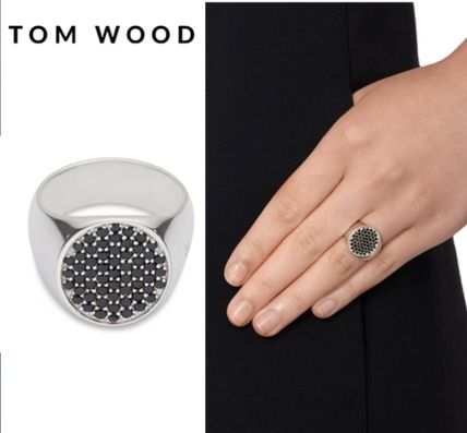 セレブ御用達★Tom Wood★Black Spinel Silver Pinkie Ring