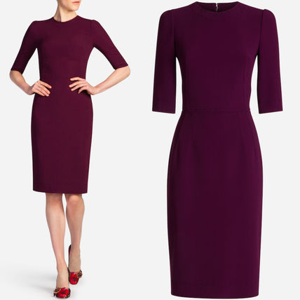 17-18AW DG1227 CADY TUBE DRESS WITH TAILOR STITCH DETAIL