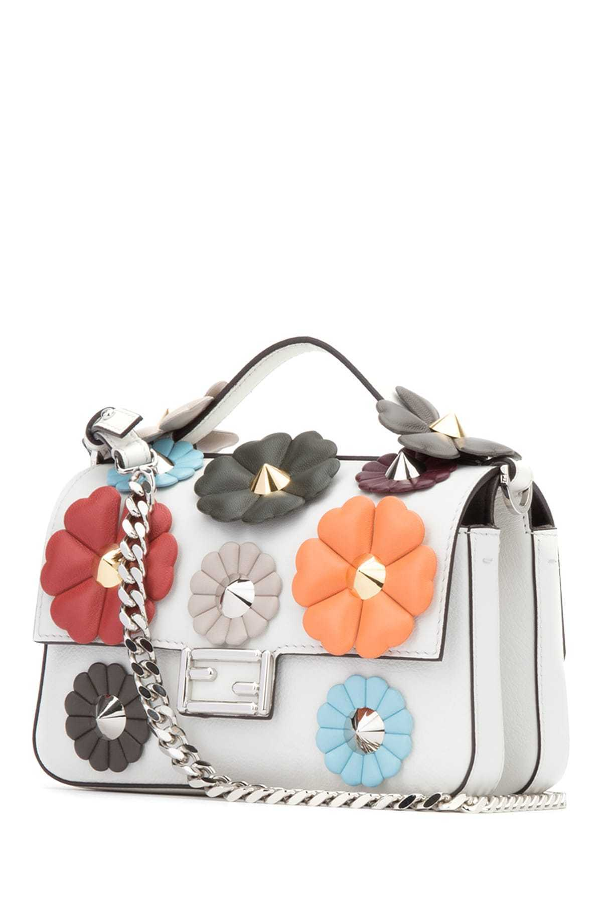 FENDI(フェンディ)☆white leather micro Double Baguette