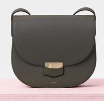 Compact Trotteur Bag in Grained Calfskin