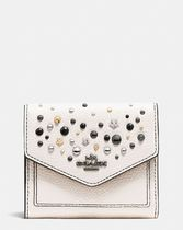 COACH◆SMALL wallet in polished pebble leather with star riv