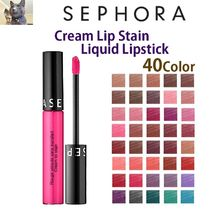 日本未入荷【SEPHORA 】Cream Lip Stain Liquid Lipstick 40色