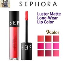 日本未入荷【SEPHORA 】Luster Matte Long-Wear Lip Color 9色