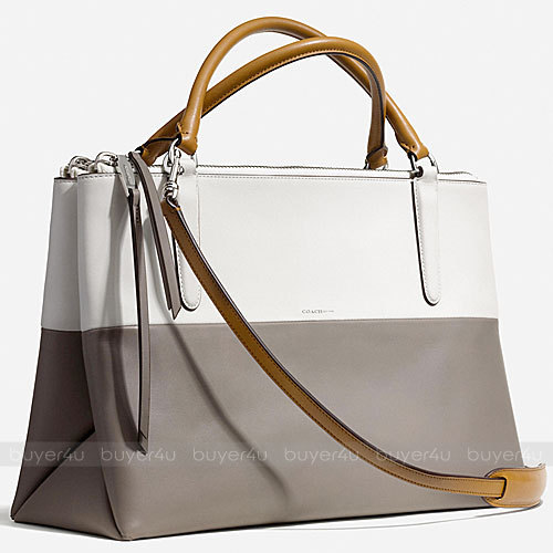 COACH★人気☆BOROUGH BAG IN RETRO COLORBLOCK LEATHER 32502