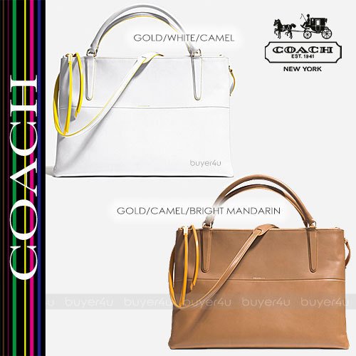 COACH★使い勝手良☆LARGE BOROUGH BAG EDGEPAINT LEATHER 30985