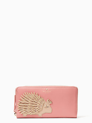 Kate Spade BAJA BOUND PORCUPINE APPLIQUE LACEY 長財布
