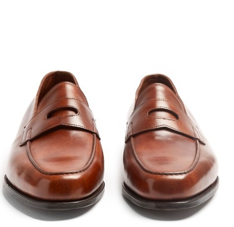 【関税送料込】JOHN LOBB Lopez leather loafers dark brown♪