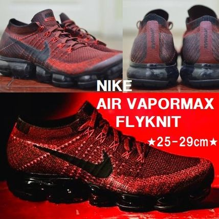 Nike スニーカー 大人気のエアヴェイパー★NIKE AIR VAPORMAX FLYKNIT★レッド