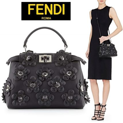 ☆⌒'*sale☆Fendi Peekaboo Mini フラワースタッズ2waybag