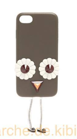 Blossom-embellished leather iPhone 7 case 関税・送料込み