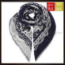 【グッチ】Blind For Love Jacquard Embroidered Scarf マフラー