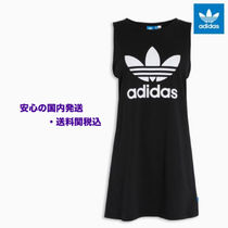 Black adidas Originals Black Trefoil Tank Dress♪