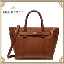 【MULBERRY】Bayswater レザー 2Way トートバッグ/オーク