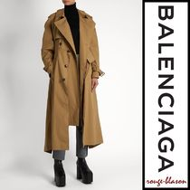 【国内発送】Double-breasted cotton-gabardine trench coat