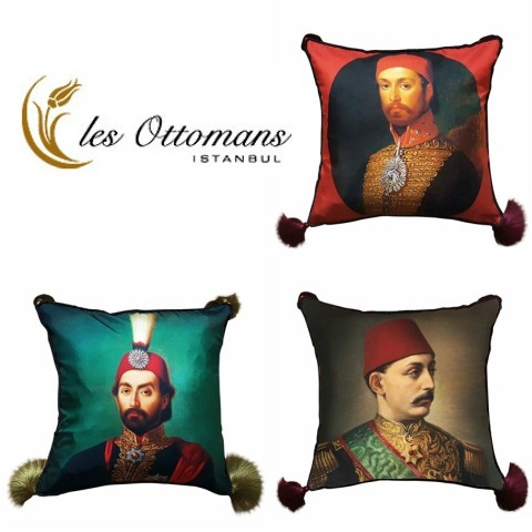 LES OTTOMANS SULTAN シルク クッション