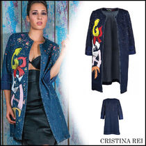 ブルゾン ★送料/関税無料★CRISTINA REI Women's denim outerwear