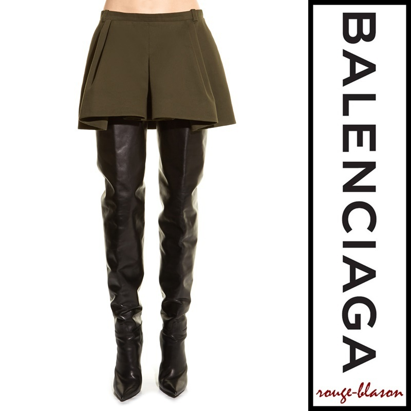 【国内発送】Balenciaga スカート Pleat-front twill mini skirt