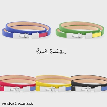 Paul Smith 国内発送 カラーコンビ レザーブレスレット5color