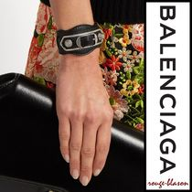 【国内発送】Classic Metallic Edge leather bracelet