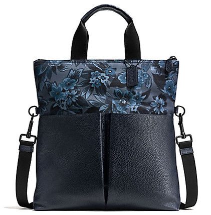 COACH CHARLES FOLDOVER TOTE IN FLORAL HAWAIIAN PRINT CANVAS