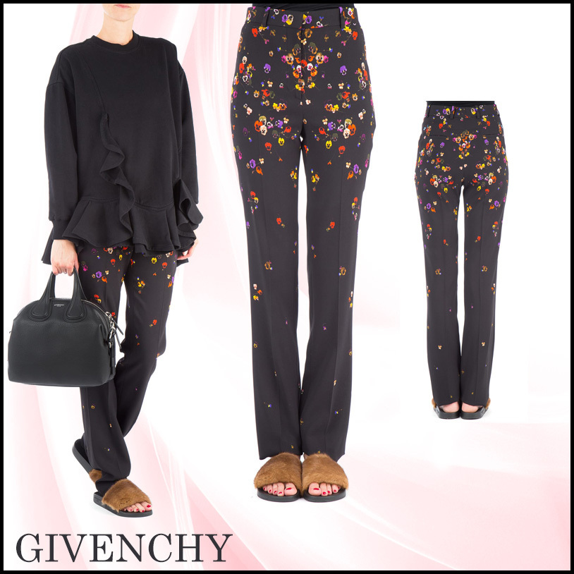 ★送料/関税無料★GIVENCHY  Printed stretch viscose pant