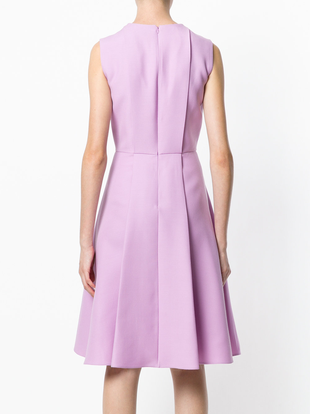 17-18AW V779 CREPE COUTURE FLARE DRESS