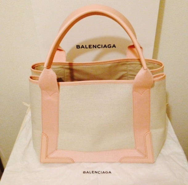 国内即発*バレンシアガ*Cabas leather-trimmed canvas tote S