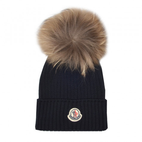 17-18 AW Moncler ファーポムポムウールハット